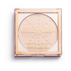 Makeup Revolution Puder prasowany Bake & Blot Translucent