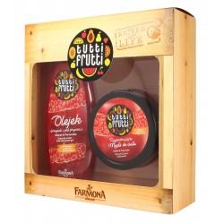 Farmona Zestaw prezentowy Tutti Frutti Wiśnia & Porzeczka (olejek pod prysznic 425ml+masło do ciała 200ml)