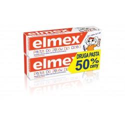 Elmex Pasta do zębów Dla Dzieci 0 do 6 lat + druga 50%  50mlx2