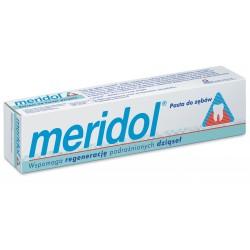 Meridol Regeneracja podrażnionych dziąseł Pasta do zębów + druga gratis  75ml x 2