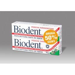 Biodent Pasta do zębów przeciw parodontozie  75g x 2 (druga 50% gratis)
