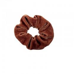 Top Choice Gumka do włosów Velvet jasno brązowa (22777)  1szt.