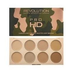 Makeup Revolution Pro HD Camouflage Palette Zestaw do konturowania twarzy Light  10g
