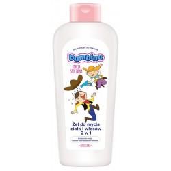 """BAMBINO Żel do mycia ciała i włosów 2w1 dla dzieci i niemowląt """"Dzieciaki""""-kowboje  400ml"""