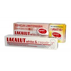 Lacalut Pasta do zębów White & Repair wybielająco naprawcza 75ml + nić dentystyczna