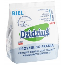 Dzidziuś Proszek do prania pieluszek, bielizny, odzieży niemowlęcej Biel  850g