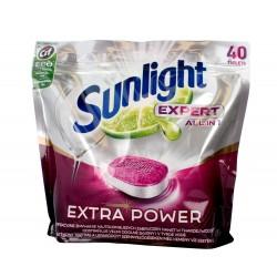 Sunlight Tabletki do zmywarek Expert All in 1 Extra Power Limonka 1 op.-40szt