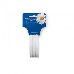 Top Choice Gumki do włosów silikonowe białe (22807)  1op.-6szt