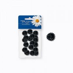 Top Choice Klamerki do włosów - kwiatki czarne (25204)  1op.-18szt