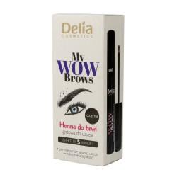Delia Cosmetics My Wow Brows Henna do brwi - czarna  6ml