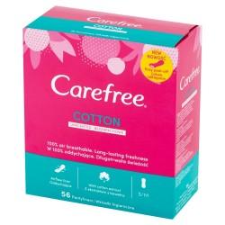 Carefree Cotton Wkładki higieniczne Uscented - bezzapachowe 1op.-56szt