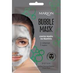 Marion Detox Aktywny Węgiel Czarna Maska na tkaninie Bubble Mask  1szt