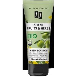 AA*FRUITS&HERBS Krem d/stóp oliwa i wiesiołek