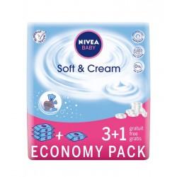 Nivea Baby Chusteczki Soft & Cream  63szt x 4 (3+1)