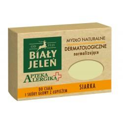 Biały Jeleń Apteka Alergika Mydło naturalne Siarka - Do ciała i skóry głowy z łupieżem  125g