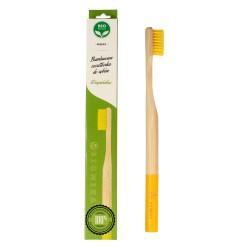 Biomika Szczoteczka do zębów bambusowa miękka - żółte włosie  1szt