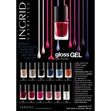 Ingrid Lakier do paznokci żelowy Gloss Gel nr 534  7ml