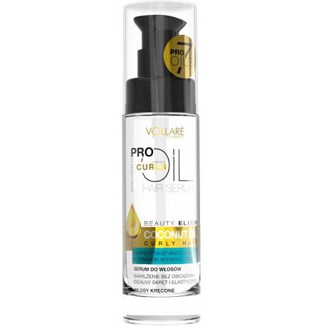 Vollare Pro Oils Perfect Curls Serum do włosów kręconych Coconut Oil   30ml