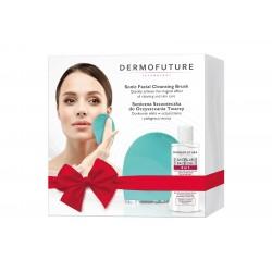 Dermofuture Technology Zestaw prezentowy (szczoteczka soniczna zielona +żel 3w1 150ml)