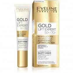 Eveline Gold Lift Expert 50+/70+ Luksusowy złoty krem napinający kontur oczu i ust 15ml