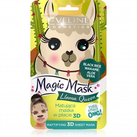 Eveline Magic Mask Matująca Maska w płacie 3D Llama Queen  1szt