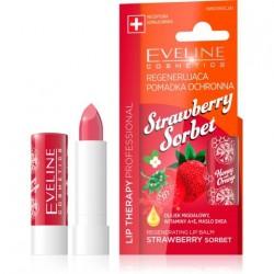 Eveline Lip Therapy Professional Pomadka regenerująca do ust Strawberry Sorbet  1szt