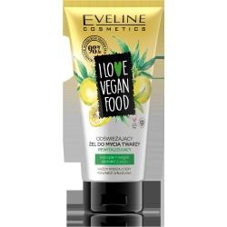 Eveline I Love Vegan Food Żel do mycia twarzy odświeżający i rewitalizujący 150ml