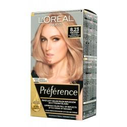 Loreal Preference Farba do włosów nr 8.23 Santorini - Jasny Blond Opalizująco Złocisty  1op.