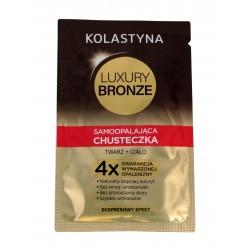 Kolastyna Luxury Bronze Chusteczka samoopalająca do twarzy i ciała 6g