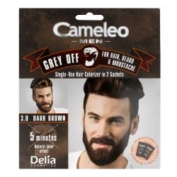 Delia Cosmetics Cameleo Men Krem koloryzujący do włosów,brody i wąsów nr 3.0 dark brown  15mlx2