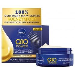 Nivea Q10 Power Krem przeciwzmarszczkowy + Extra odżywienie na noc 50ml