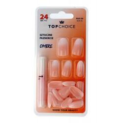 Top Choice Sztuczne paznokcie z klejem OMBRE (78026)  1op.