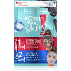 Eveline #Clean Your Skin Zabieg Peeling + Maska 5mlx2