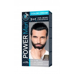 Joanna Power Men Color Cream Farba do włosów 3in1 dla mężczyzn nr 02 Dark Brown 100g