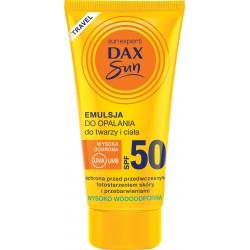 Dax Sun Emulsja do opalania do twarzy i ciała SPF 50  travel-50ml