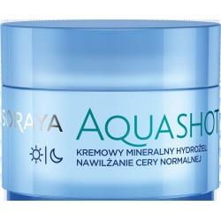 Soraya AquaShot Kremowy Mineralny Hydrożel nawilżający do twarzy - cera normalna  50ml