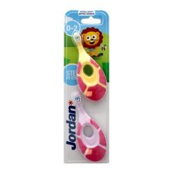Jordan Szczoteczka do zębów DUO Extra Soft dla dzieci (0-2 lat) bardzo miękka mix wzorów 1 op-2szt