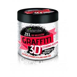 Bielenda Graffiti 3D Żel do układania włosów z czarną rzepą bardzo mocny 250ml