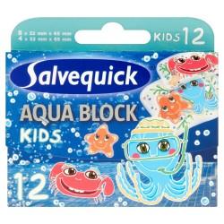 Salvequick Plastry Aqua Block  Kids 1 op-12szt