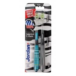 Jordan Szczoteczka do zębów DUO Individual Clean Soft - mix kolorów  1 op-2szt