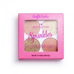 I Heart Revolution Blush & Sprinkles Paletka różów i rozświetlaczy Confetti Cookie 1szt