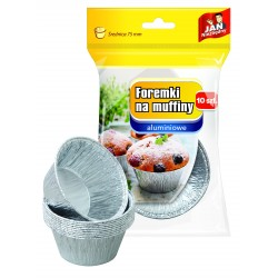 Sarantis Jan Niezbędny Foremki aluminiowe do pieczenia muffinek  1op.-10szt
