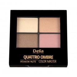 Delia Cosmetics Color Master Cienie do powiek Quattro Ombre nr 406 Candy Box 1szt