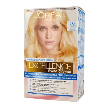 Loreal Excellence Creme Pure Blond Krem koloryzujący 02 Superjasny Blond Złocisty 1op.