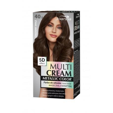 Joanna Multi Cream Metallic Color Farba do włosów nr 40.5 Chłodny Brąz 1op.