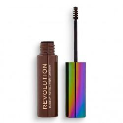 Makeup Revolutuion żel do brwi H Brow Gel with Cannabis Sativa M Brown