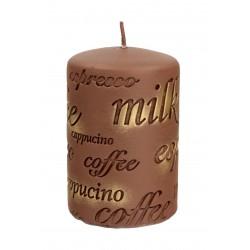 ARTMAN Świeca ozdobna Coffee - walec mały brązowy 1szt