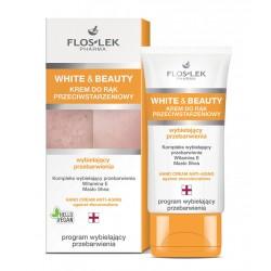 Floslek White and Beauty Krem do rąk przeciwstarzeniowy wybielający przebarwienia 50ml