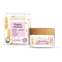 Bielenda Vegan Muesli Krem matujący na dzień i noc - cera mieszana,tłusta,wrażliwa 50ml
