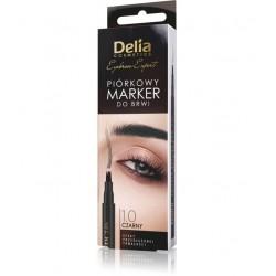 Delia Cosmetics Eyebrow Expert Piórkowy Marker do brwi - czarny 1szt